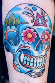sugar skull tattoos for halloween day of the dead family