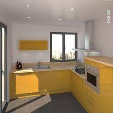 cuisine jaune et blanche cuisine jaune curry moderne au style vitaminé associé à un plan de