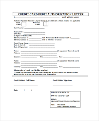 sample credit card authorization letter 7 documents in pdf word