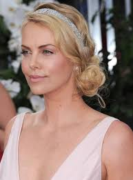 chiffon hairstyle a romantic side chignon gets jazzed up with a sparkly headband