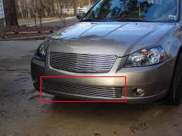 fit 2005 2006 nissan altima bumper billet grille overlay aluminum