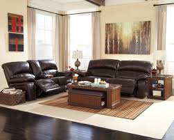 Brown Leather Loveseat Damacio Dark Brown 2 Seat Power Reclining Sofa From Ashley