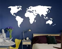 world map wall decal up to 3ft tall k135 stampmagick wall decals see our wall decal information page to learn more about our vinyl decals including material properties color chart installation procedures paint issues