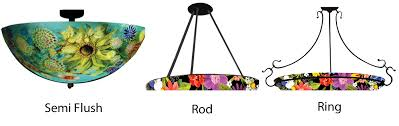 Le Chandelier Le Jardin Painted Glass Chandelier Artisan Crafted Lighting
