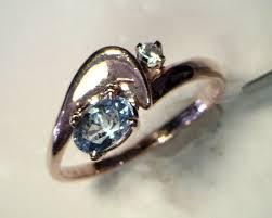 light blue sapphire ring 14 karat yellow gold oval ceylon light blue sapphire and
