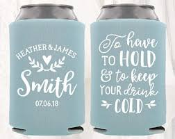 wedding can koozies wedding koozie etsy