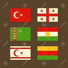 Flag Of Turkmenistan Flags Of Turkey Georgia Turkmenistan Kurdistan Northern Cyprus