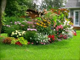 simple backyard flower gardens decorating clear