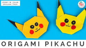 pokémon origami crafts how to fold origami pikachu pokémon go