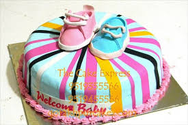 baby shower cake two shoes delivery gorakhpur online cartoon