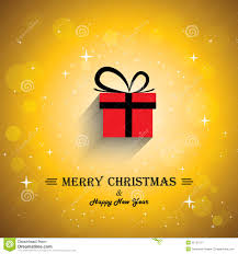 merry christmas greeting card poster with gift ico royalty free