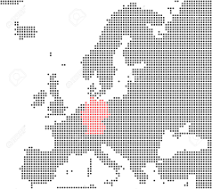 Germany Map Europe by Germany Series Pixel Map Of Europe Stock Photo Picture And