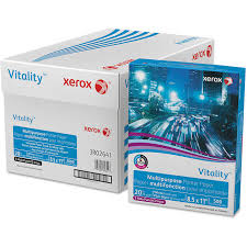 xerox vitality multipurpose paper 3 hole punched letter 20lb