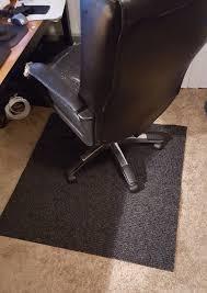 make a quick and cheap office chair mat zaparatus