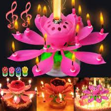 birthday candle flower creative birthday candles lotus flower blossom magic cake