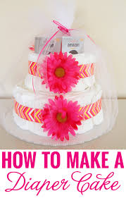 how to make a diaper cake chickabug