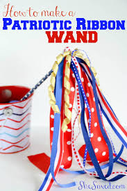 parade ribbon 4th of july craft patriotic ribbon wands ribbon wands wand and