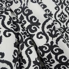 Black Drapery Fabric Luminary Panther Black White Damask Fabric Traditional Drapery