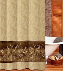 Cabin Shower Curtains Deer Meadow Shower Curtain Cabin Place