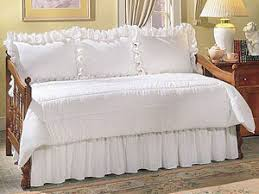 Daybed Dust Ruffle Eyelet Canopy Tops Accessories