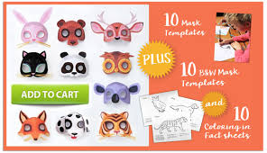 printable animal masks download easy mask templates