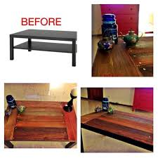 ikea hacks coffee table top ikea lack coffee table hack on wood makeover for lack coffee