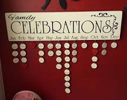 birthday board wooden discs for family birthdays board family birthday