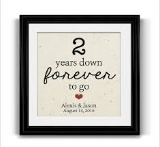 2nd wedding anniversary gifts for best 25 second wedding anniversary gift ideas on