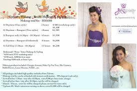 make up prices for wedding pre wedding makeup list mugeek vidalondon