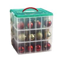 shop snap n stack sup tm sup 3 tier ornament storage box at