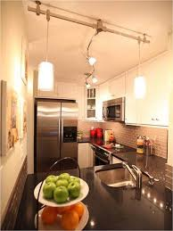 Ideas For Galley Kitchens Kitchen Delightful Galley Kitchen Track Lighting Galley Kitchen