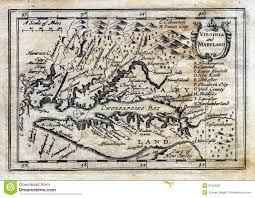 Norfolk Virginia Map by 1635 Antique Speed Map Colonial Virginia Maryland Royalty Free
