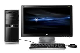 pc bureau windows 7 amazon com hp pavilion elite hpe 120f desktop pc black