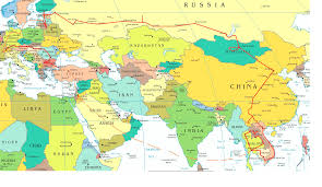 map asia european asian map travel maps and major tourist attractions maps