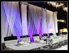 wedding backdrop modern wedding backdrop criss cross drape table set ups
