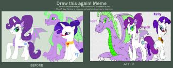 Draw This Again Meme Template - draw this again meme rarity s family by purfectprincessgirl on
