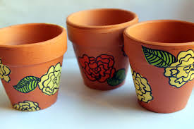 punk projects pretty painted flower pots diy