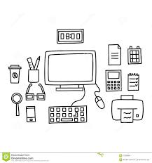 Schreibtisch Mit Computer Schreibtisch Mit Einem Computer Oder Arbeitsplatz Im Büro Das