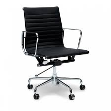 management leather office chair eames replica black interior