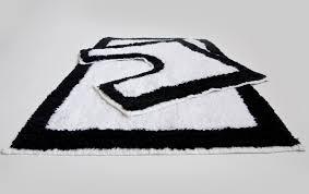 Non Slip Bath And Pedestal Mats Black And White Bathroom Rug Set Rug Designs