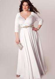 long white dress plus size pluslook eu collection