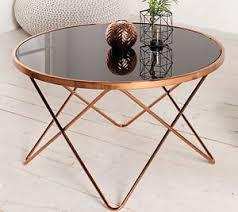 coffee table round side table paris 85cm art deco design black