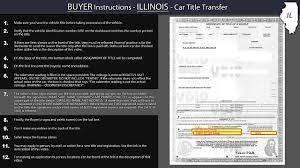 illinois title transfer buyer instructions youtube