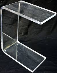 Lucite Pedestals Side Table Lucite Pedestal Side Table Lucite Side Table Modern