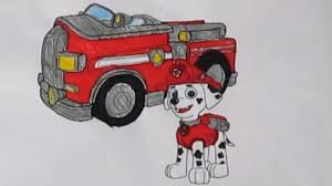 paw patrol marshall fire truck coloring pages philips