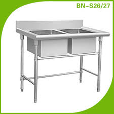 Industrial Kitchen Sink Double Bowl Stainless Steel Restaurant - Restaurant kitchen sinks
