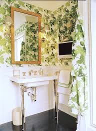 wallpapering our powder room design darling
