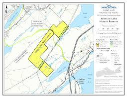 Map Of Nova Scotia Johnson Lake Nature Reserve Designation Wilderness Areas