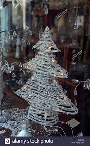 Christmas Decorations Shop Window Displays by Small Christmas Tree Window Display In Independent Gift Shop Stock