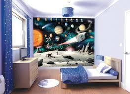 chambre theme espace papier peint espace pour dé un mur de chambre d enfant